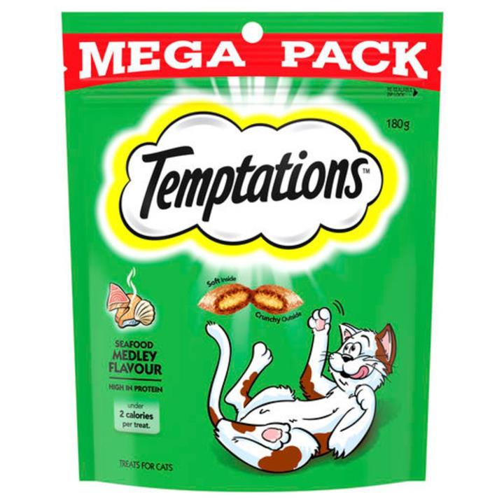 Temptations Seafood Medley Cat Treat 180g
