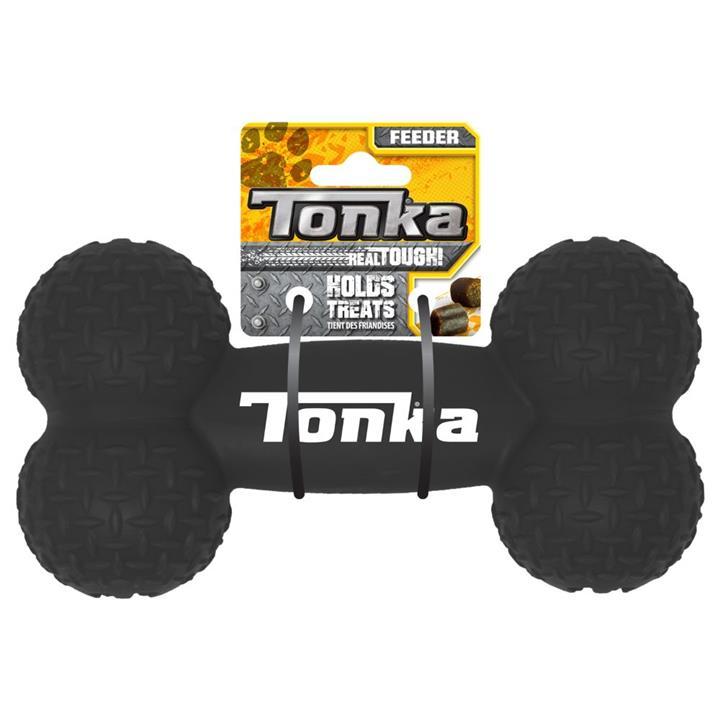 Tonka Diamond Plate Feeder Bone Dog Toy Black 20cm