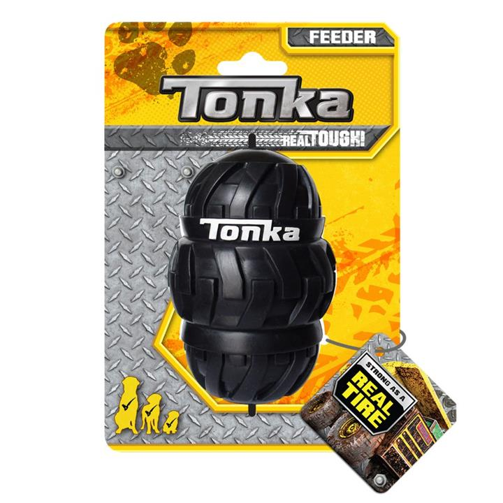 Tonka Tri Stack Tread Interactive Feeder Dog Toy Black 10cm