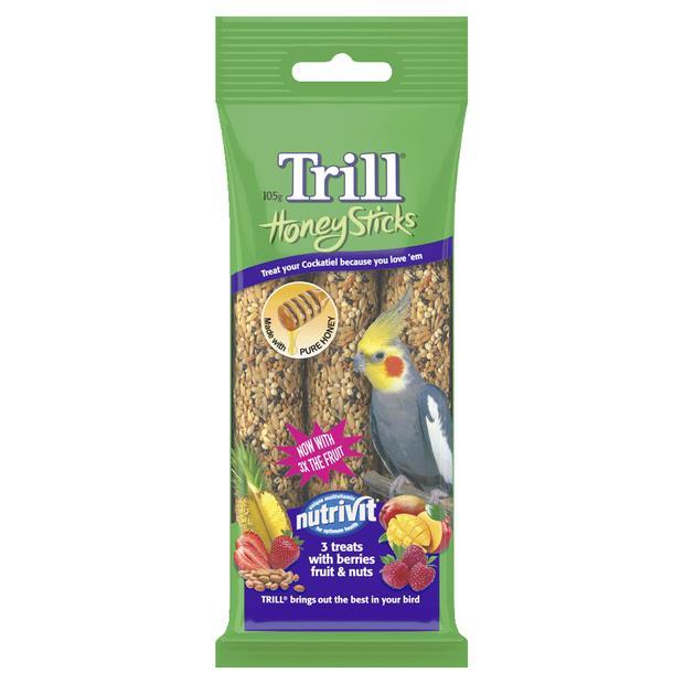 Trill Honeystick For Cockatiels Each