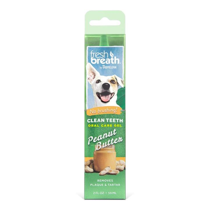 Tropiclean Fresh Breath Oral Care Gel Peanut Butter 59ml