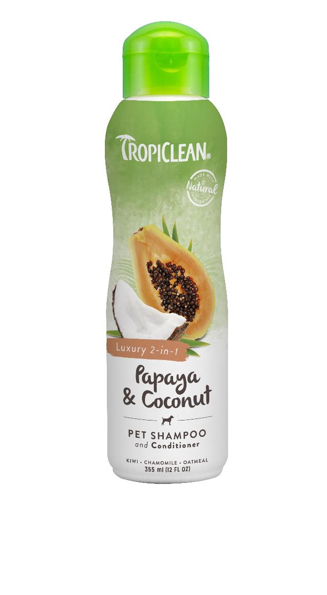 Tropiclean Papaya & Coconut Dog Shampoo 355ml