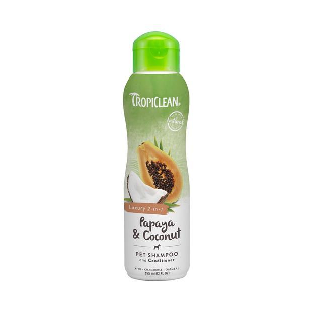 Tropiclean Shampoo Conditioner Papaya Coconut 355ml