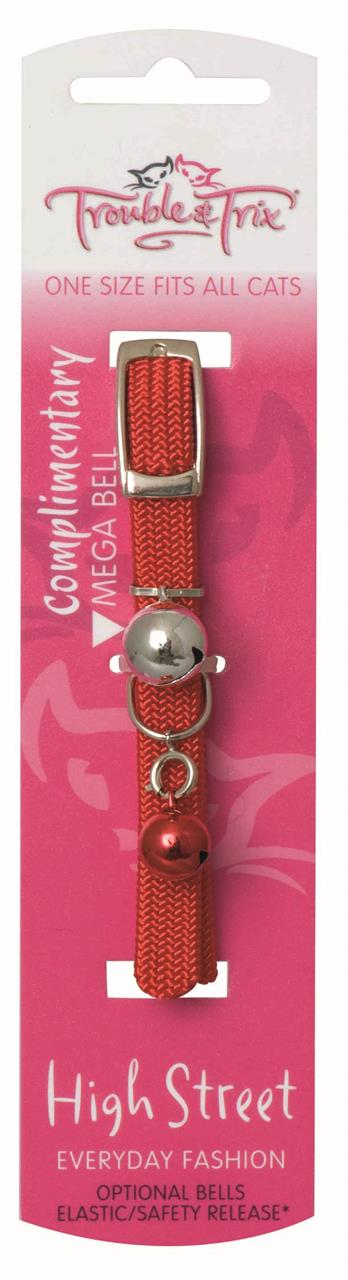Trouble & Trix Collar High Street Stretch Red