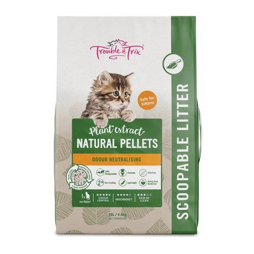 Trouble & Trix Natural Pellets Flushable Litter 4.8kg