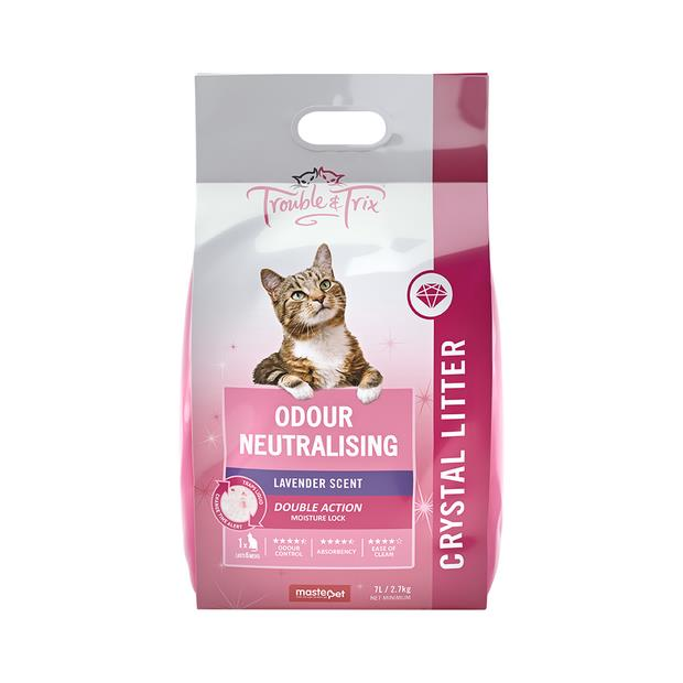 Trouble & Trix Odour Neutral Crystal Lavender Scent Cat Litter 15L