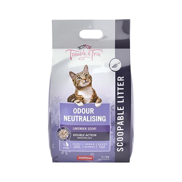 Trouble & Trix Odour Neutralising Lavender Cat Litter 15L