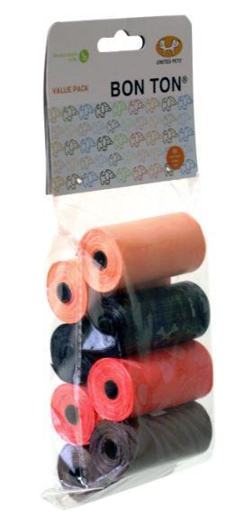 United Pet Bon Ton Refill Poo Bags Value 8 Pack