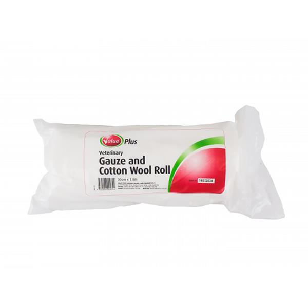 Value Plus Veterinary Gauze And Cotton Roll 30cm X 1.8m
