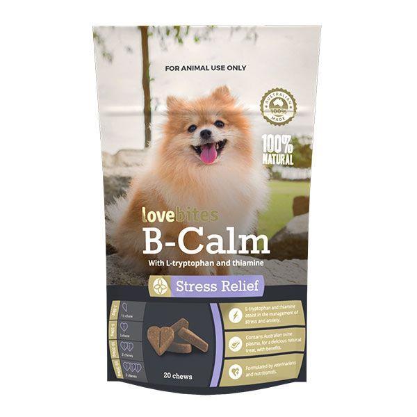 Vetafarm B-Calm Love Bites Stress Relief Dog Chews 20 Pack