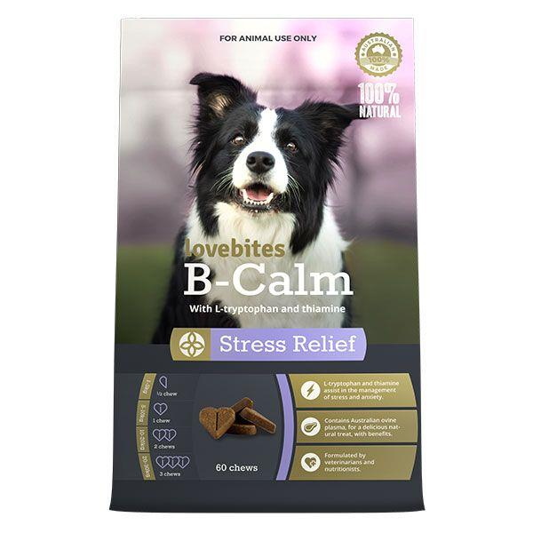 Vetafarm B-Calm Love Bites Stress Relief Dog Chews 60 Pack