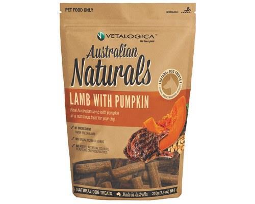 Vetalogica Australian Naturals Lamb And Pumpkin For Dogs 210g