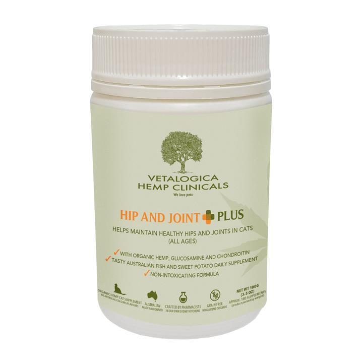 Vetalogica Hemp Clinicals Hip and Joint Plus Cat Supplement 100g