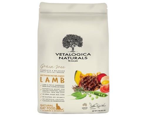 Vetalogica Naturals Grain Free Lamb Adult Cat Food 3kg