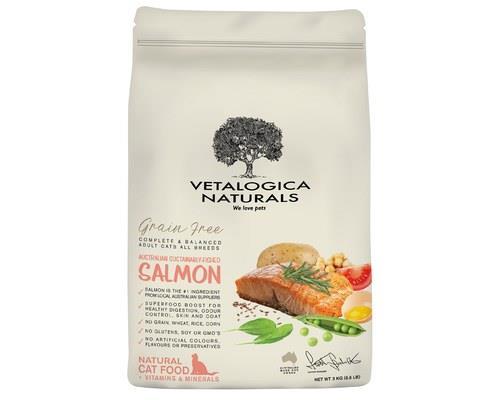 Vetalogica Naturals Grain Free Salmon Adult Cat Food 3kg