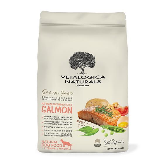 Vetalogica Naturals Grain Free Salmon Adult Dog Food 3kg