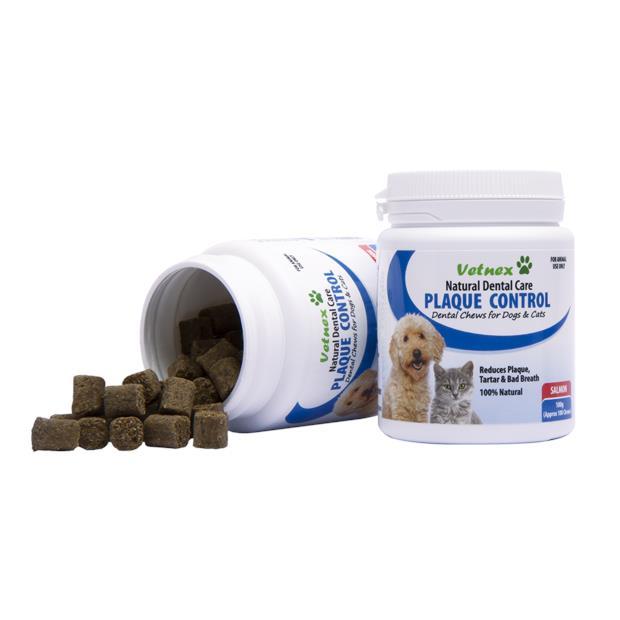Vetnex Natural Dental Care Plaque Control Soft Chews Salmon 100g (100 Chews)