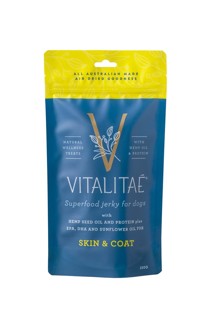 Vitalitae Jerky Skin & Coat Superfood Dog Treat 150g