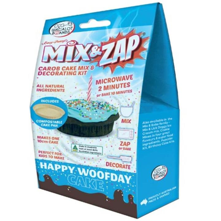 Wagalot Mix & Zap Happy Woofday Cake Kit Blue Dog Treat