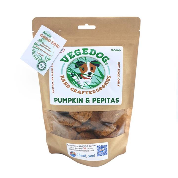 Wagalot Vegedog Pumpkin & Pepitas Cookies Dog Treat 300g