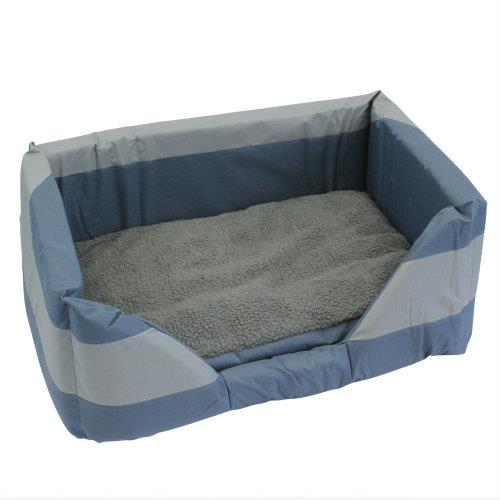Walled Dog Bed in Blue Medium