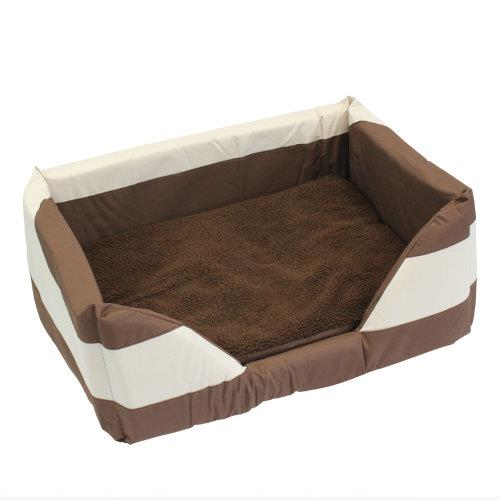 Walled Dog Bed in Brown Large