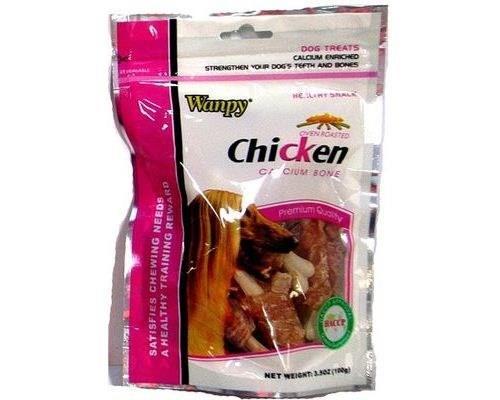 Wanpy Chicken Jerky Wrap On Calcium Bone 100g