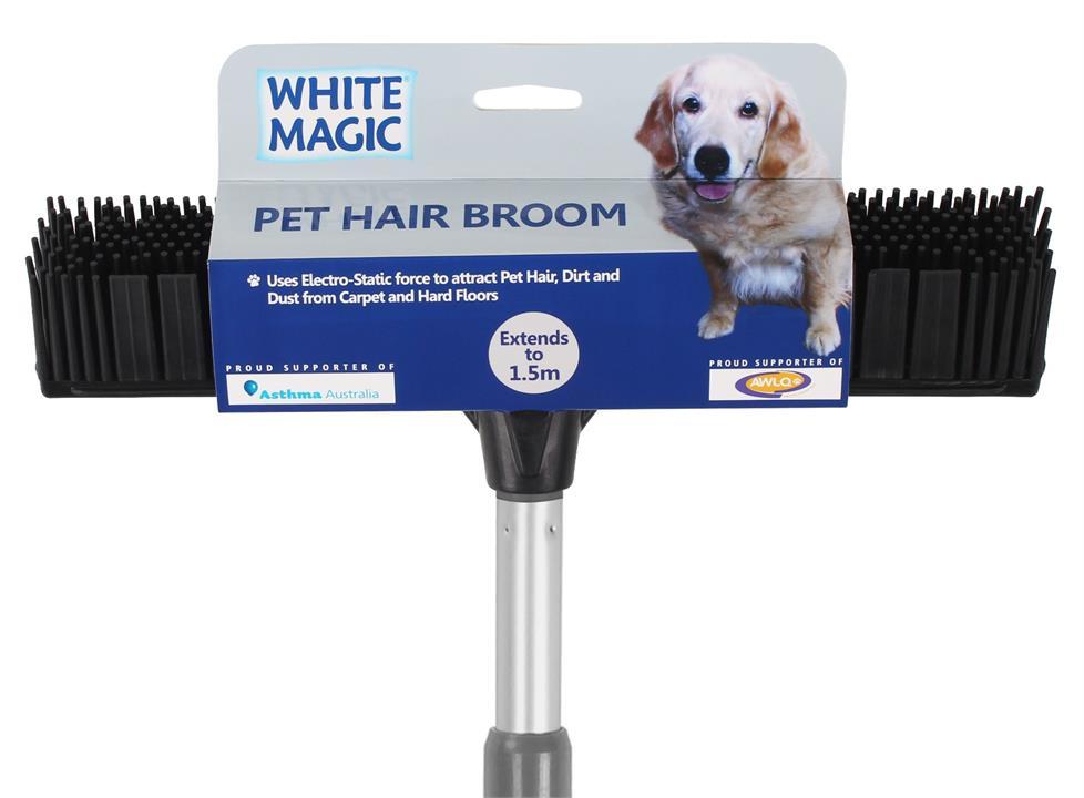 White Magic Pet Hair Broom Black