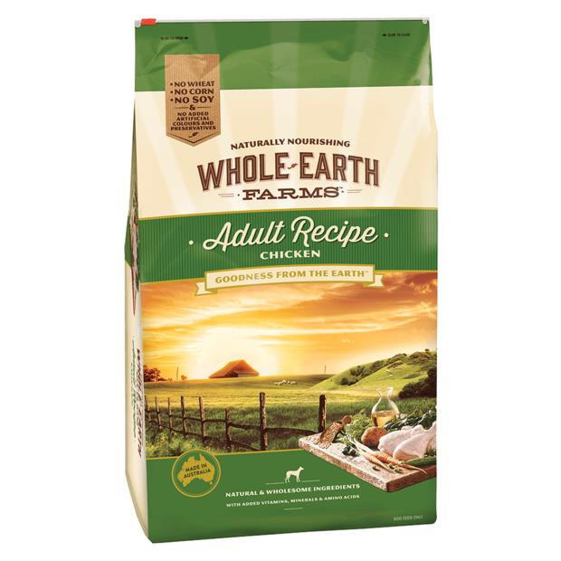 Whole Earth Farms Adult Recipe Dry Dog Food Chicken 3kg