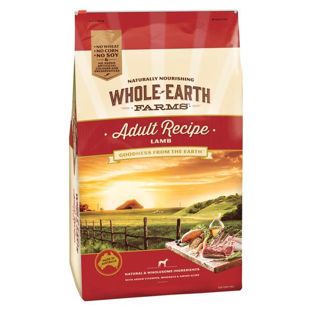 Whole Earth Farms Adult Recipe Dry Dog Food Lamb 3kg