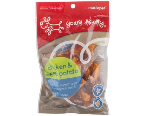 Yours Droolly Chicken & Sweet Potato Dog Treats 110g
