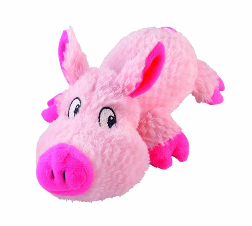Yours Droolly Cuddlies Pink Pig Dog Toy