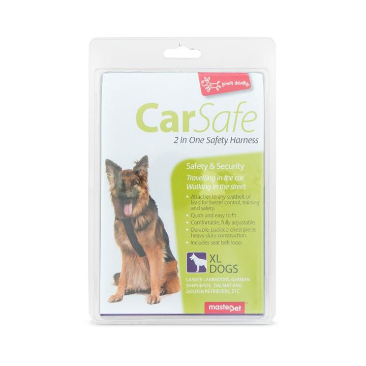 Yours Droolly Dog Car Harness Extra Large