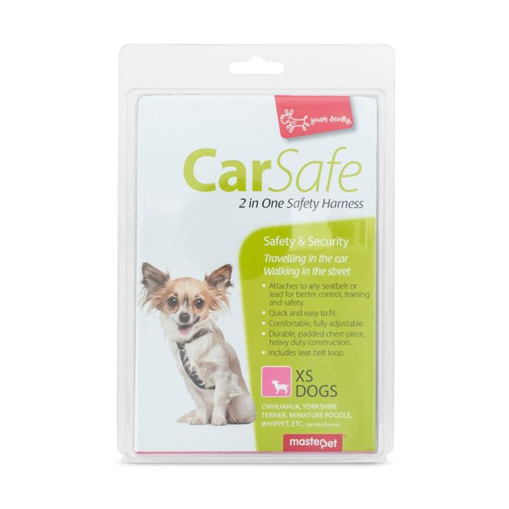 Yours Droolly Dog Car Harness Extra Small