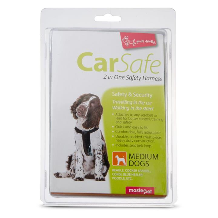 Yours Droolly Dog Car Harness Medium