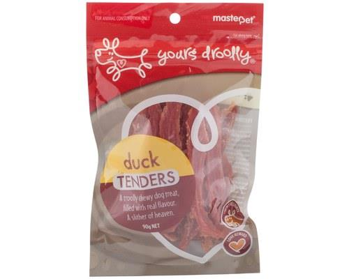 Yours Droolly Duck Tenders Dog Treats 90g