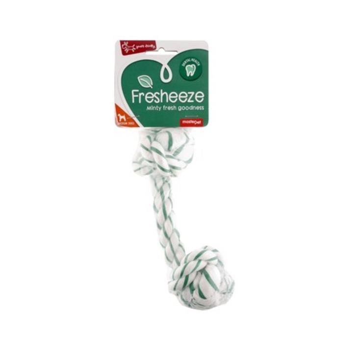 Yours Droolly Fresheeze Dental Mint Dog Rope Medium