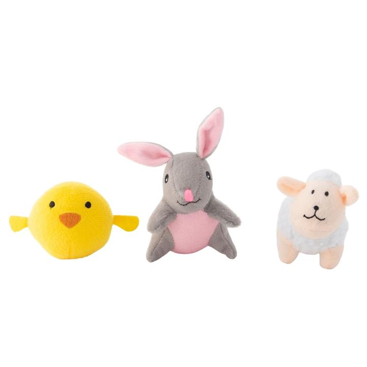 Zippy Paws Easter Donutz Squeaker Dog Toys - Easter Friends 3-Pack