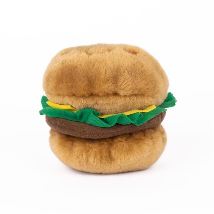Zippy Paws NomNomz Squeaker Dog Toy - Hamburger