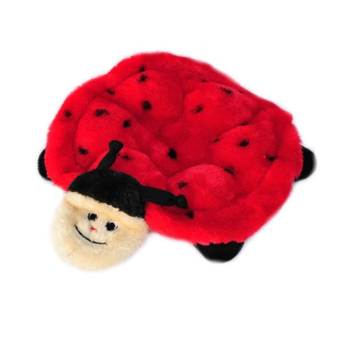 Zippy Paws Squeakie Crawler No Stuffing Speaker Dog Toy - Betsy the Ladybug