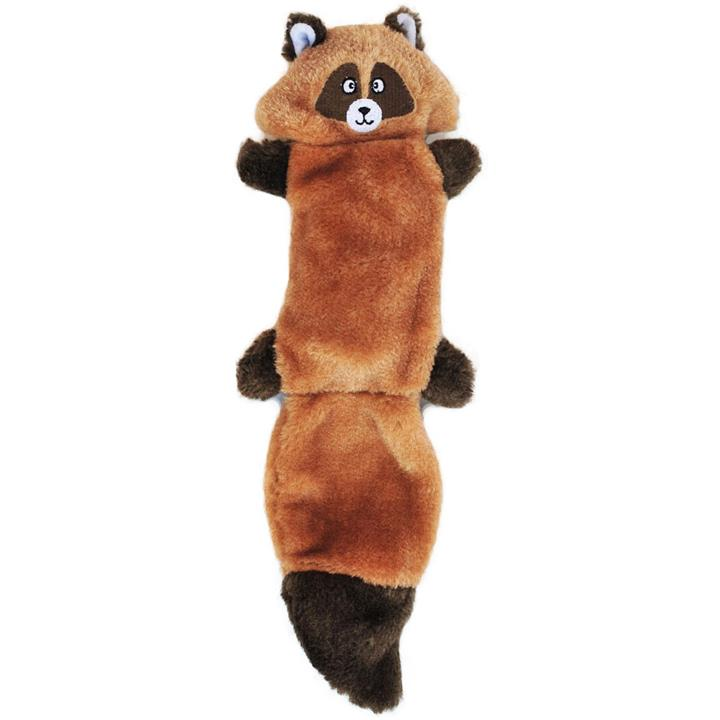 Zippy Paws Stuffing Free Squeaker Dog Toy - Zingy Raccoon