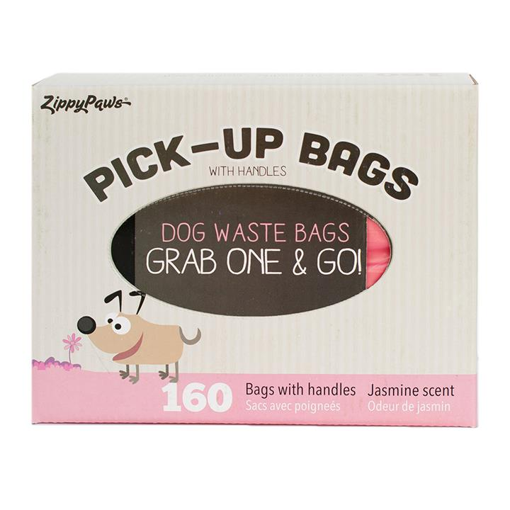 Zippy Paws Unscented Dog Poop Bags Pink - Box of 160 Bags
