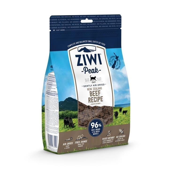 Ziwi Peak Air Dried Cat Food 1kg Pouch - Free Range Beef