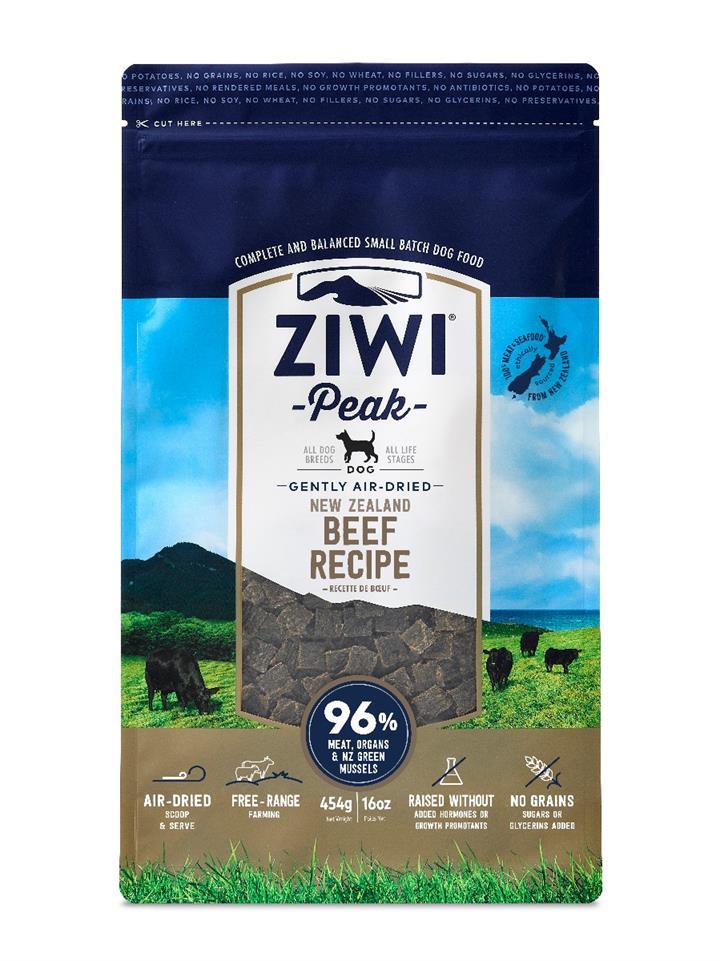 ZiwiPeak Air Dried Dog Food Beef 454g