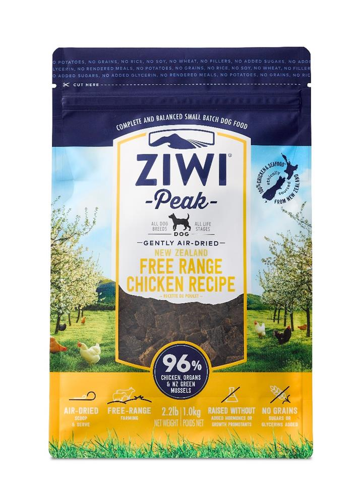 ZiwiPeak Air Dried Dog Food Chicken 1kg