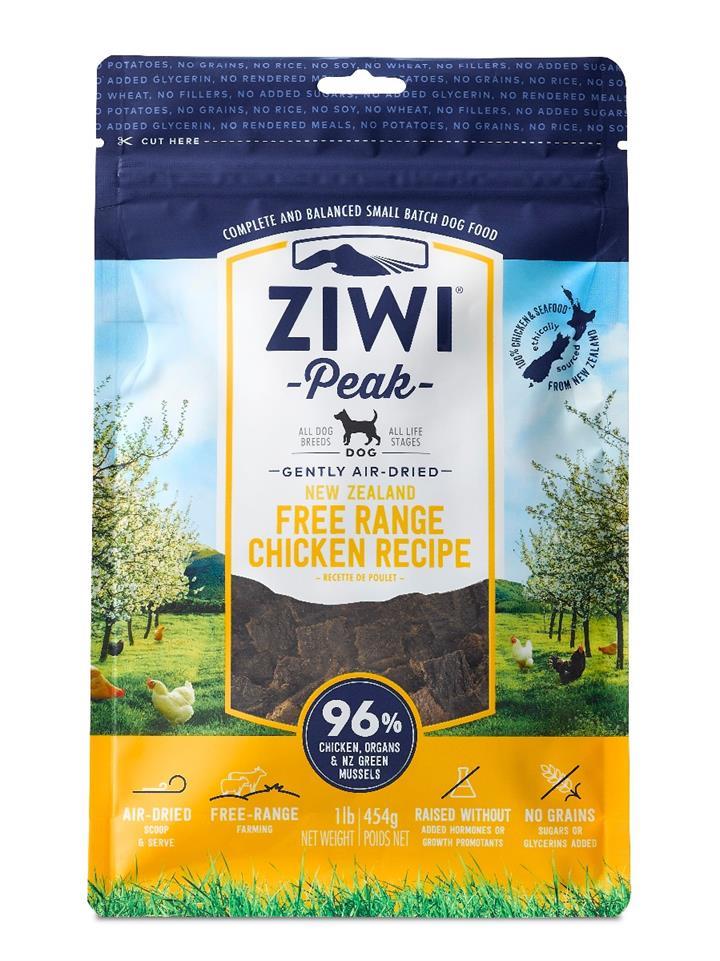 ZiwiPeak Air Dried Dog Food Chicken 454g