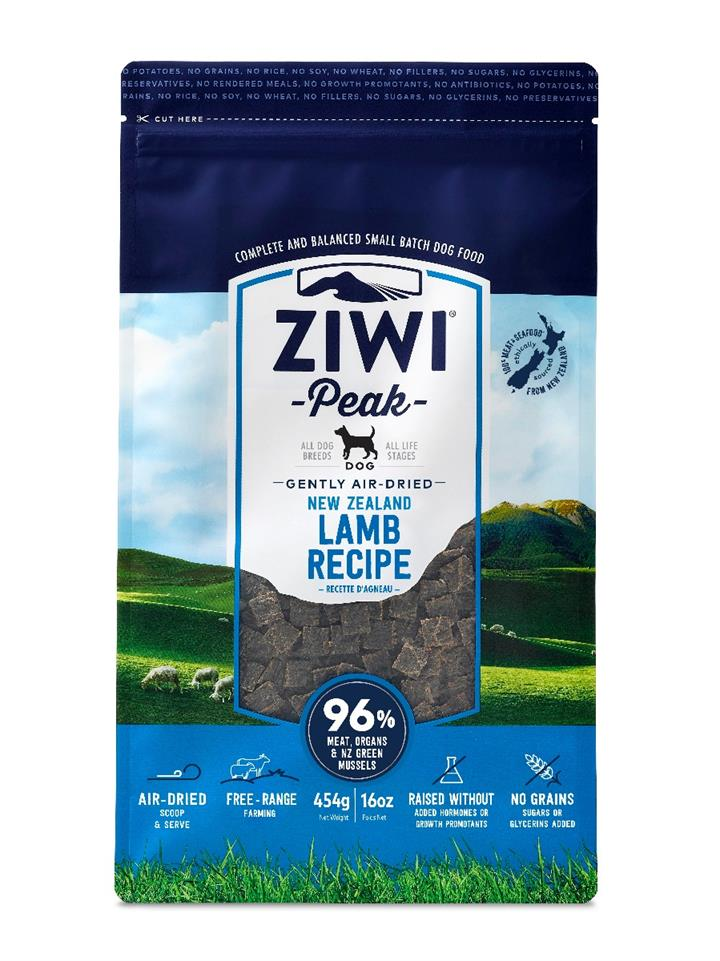 ZiwiPeak Air Dried Dog Food Lamb 454g