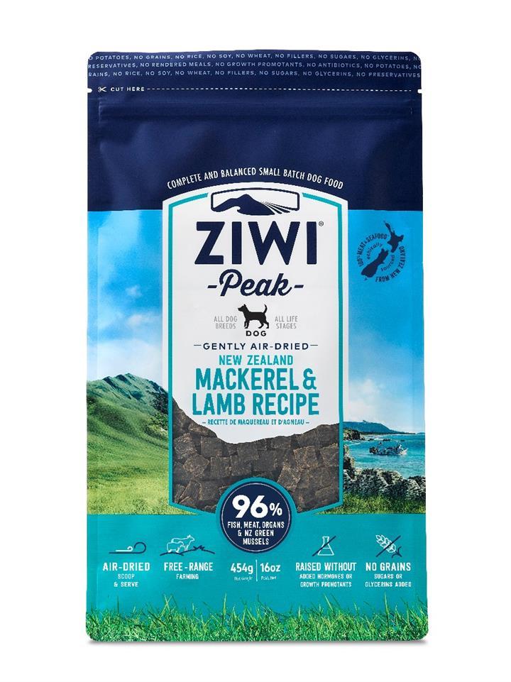 ZiwiPeak Air Dried Dog Food Mackerel & Lamb
