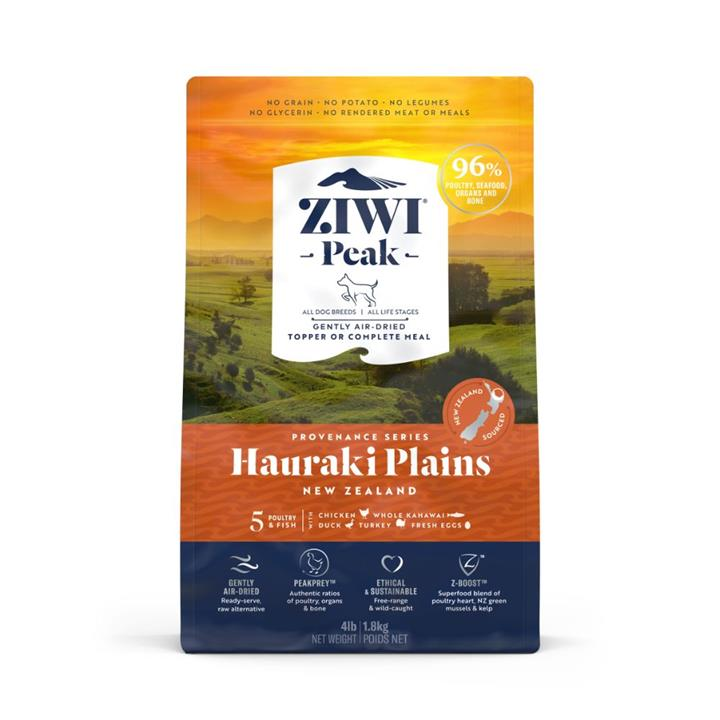 ZiwiPeak Air Dried Provenance Hauraki Plains Dog Food 1.8kg