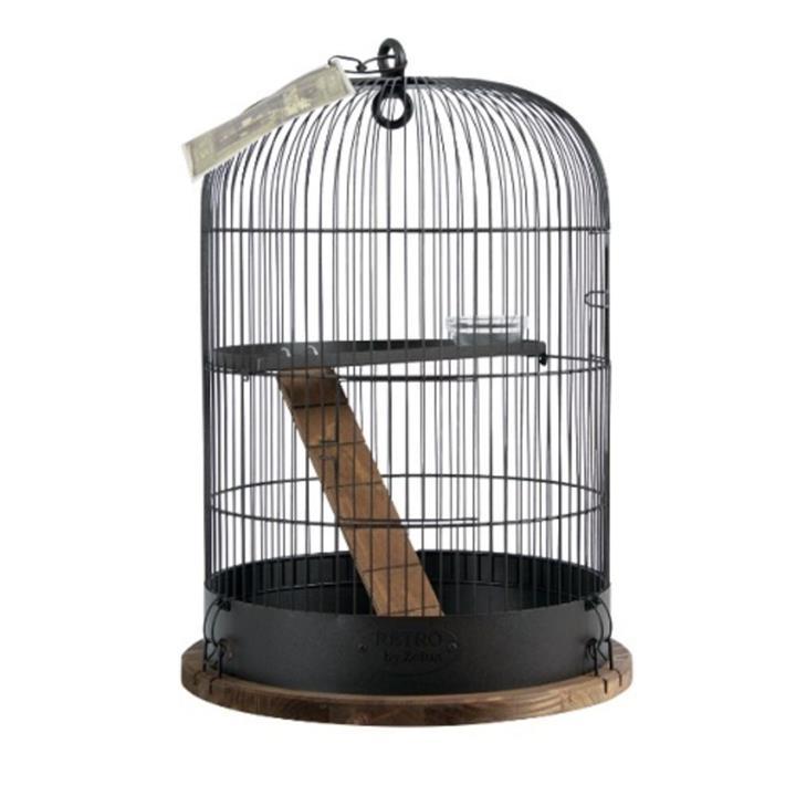 Zolux Retro Albert Bird Cage Black